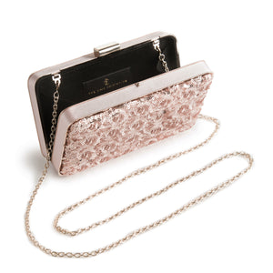 Danielle Sequined Clutch in Rose Gold 2 | The Chic Initiative | Malaysian label of specially designed clutches, evening bags and minaudieres | Free shipping to Malaysia Singapore Brunei