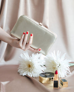 Sofia Metallic Clutch in Gold 7 | The Chic Initiative | Malaysian label of specially designed clutches, evening bags and minaudieres | Free shipping to Malaysia Singapore Brunei