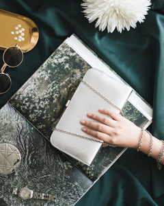 Sofia Metallic Clutch in Silver 7 | The Chic Initiative | Malaysian label of specially designed clutches, evening bags and minaudieres | Free shipping to Malaysia Singapore Brunei