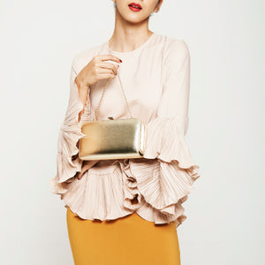 Sofia Metallic Clutch in Gold 4 | The Chic Initiative | Malaysian label of specially designed clutches, evening bags and minaudieres | Free shipping to Malaysia Singapore Brunei