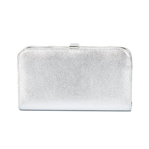 Sofia Metallic Clutch in Silver 1 | The Chic Initiative | Malaysian label of specially designed clutches, evening bags and minaudieres | Free shipping to Malaysia Singapore Brunei