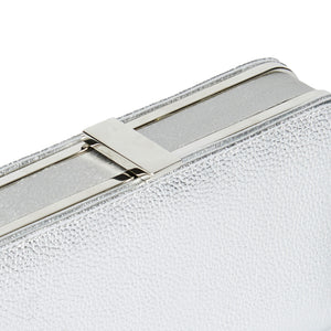 Sofia Metallic Clutch in Silver 3 | The Chic Initiative | Malaysian label of specially designed clutches, evening bags and minaudieres | Free shipping to Malaysia Singapore Brunei