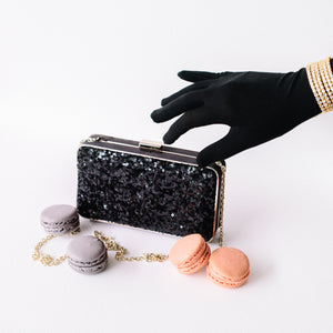 Danielle Sequined Clutch in Black 5 | The Chic Initiative | Malaysian label of specially designed clutches, evening bags and minaudieres | Free shipping to Malaysia Singapore Brunei