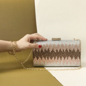 Nerissa Crystal Clutch in Rose Gold 7 | The Chic Initiative | Malaysian label of specially designed clutches, evening bags and minaudieres | Free shipping to Malaysia Singapore Brunei