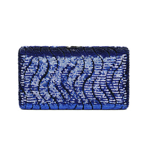 Tosca Sequined Clutch (Blue)