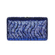 Tosca Sequin Clutch in Blue 1 | The Chic Initiative | Malaysian label of specially designed clutches, evening bags and minaudieres | Free shipping to Malaysia Singapore Brunei