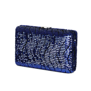 Tosca Sequin Clutch in Blue 6 | The Chic Initiative | Malaysian label of specially designed clutches, evening bags and minaudieres | Free shipping to Malaysia Singapore Brunei