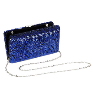 Tosca Sequin Clutch in Blue 5 | The Chic Initiative | Malaysian label of specially designed clutches, evening bags and minaudieres | Free shipping to Malaysia Singapore Brunei