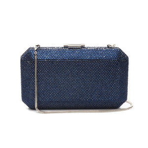 Veralyn Crystal Clutch (Midnight Blue) 1 | The Chic Initiative | Malaysian label of specially designed clutches, evening bags and minaudieres | Free shipping to Malaysia Singapore Brunei