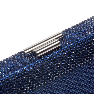Veralyn Crystal Clutch (Midnight Blue) 3 | The Chic Initiative | Malaysian label of specially designed clutches, evening bags and minaudieres | Free shipping to Malaysia Singapore Brunei