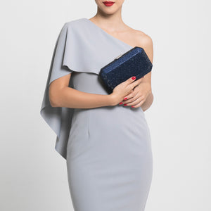 Veralyn Crystal Clutch (Midnight Blue) 2 | The Chic Initiative | Malaysian label of specially designed clutches, evening bags and minaudieres | Free shipping to Malaysia Singapore Brunei