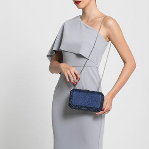Veralyn Crystal Clutch (Midnight Blue) 4 | The Chic Initiative | Malaysian label of specially designed clutches, evening bags and minaudieres | Free shipping to Malaysia Singapore Brunei