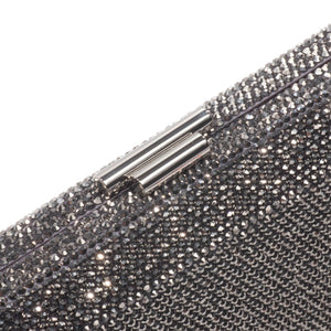 Veralyn Crystal Clutch (Pewter) 3 | The Chic Initiative | Malaysian label of specially designed clutches, evening bags and minaudieres | Free shipping to Malaysia Singapore Brunei