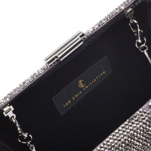 Veralyn Crystal Clutch (Pewter) 5 | The Chic Initiative | Malaysian label of specially designed clutches, evening bags and minaudieres | Free shipping to Malaysia Singapore Brunei