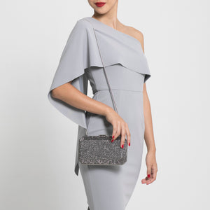 Veralyn Crystal Clutch (Pewter) 2 | The Chic Initiative | Malaysian label of specially designed clutches, evening bags and minaudieres | Free shipping to Malaysia Singapore Brunei