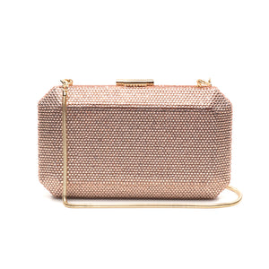 Veralyn Crystal Clutch (Rose Gold) 1 | The Chic Initiative | Malaysian label of specially designed clutches, evening bags and minaudieres | Free shipping to Malaysia Singapore Brunei