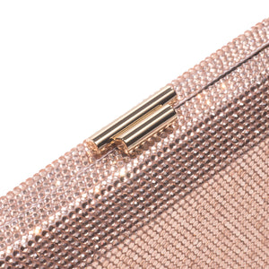 Veralyn Crystal Clutch (Rose Gold) 3 | The Chic Initiative | Malaysian label of specially designed clutches, evening bags and minaudieres | Free shipping to Malaysia Singapore Brunei