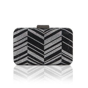 Zig Zag Crystal (Black) 1 | The Chic Initiative | Malaysian label of specially designed clutches, evening bags and minaudieres | Free shipping to Malaysia Singapore Brunei