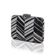 Zig Zag Crystal (Black) 5 | The Chic Initiative | Malaysian label of specially designed clutches, evening bags and minaudieres | Free shipping to Malaysia Singapore Brunei