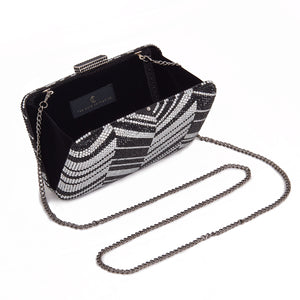 Zig Zag Crystal (Black) 2 | The Chic Initiative | Malaysian label of specially designed clutches, evening bags and minaudieres | Free shipping to Malaysia Singapore Brunei