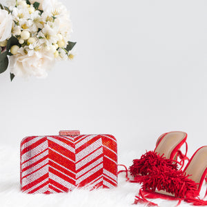 Zig Zag Crystal Clutch in Red 5 | The Chic Initiative | Malaysian label of specially designed clutches, evening bags and minaudieres | Free shipping to Malaysia Singapore Brunei
