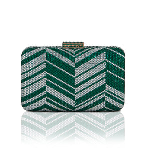 Zig Zag Crystal (Green) 1 | The Chic Initiative | Malaysian label of specially designed clutches, evening bags and minaudieres | Free shipping to Malaysia Singapore Brunei