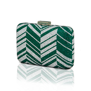 Zig Zag Crystal (Green) 4 | The Chic Initiative | Malaysian label of specially designed clutches, evening bags and minaudieres | Free shipping to Malaysia Singapore Brunei