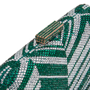Zig Zag Crystal (Green) 6 | The Chic Initiative | Malaysian label of specially designed clutches, evening bags and minaudieres | Free shipping to Malaysia Singapore Brunei