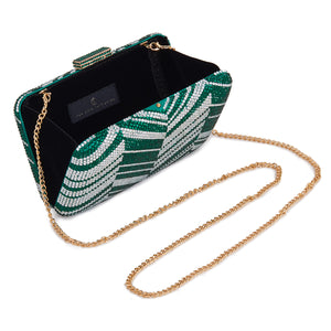 Zig Zag Crystal (Green) 2 | The Chic Initiative | Malaysian label of specially designed clutches, evening bags and minaudieres | Free shipping to Malaysia Singapore Brunei