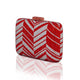 Zig Zag Crystal Clutch in Red 2 | The Chic Initiative | Malaysian label of specially designed clutches, evening bags and minaudieres | Free shipping to Malaysia Singapore Brunei