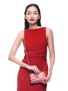 Zig Zag Crystal Clutch in Red 3 | The Chic Initiative | Malaysian label of specially designed clutches, evening bags and minaudieres | Free shipping to Malaysia Singapore Brunei