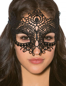 Black Lace Eye Mask Overhead for Couple  | Black Color | One Size