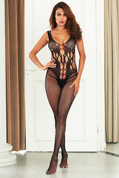 Black Holes Hollow Out Fishnet Bodystocking