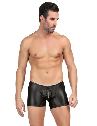 Men's Leather Pants With Exposed Hips