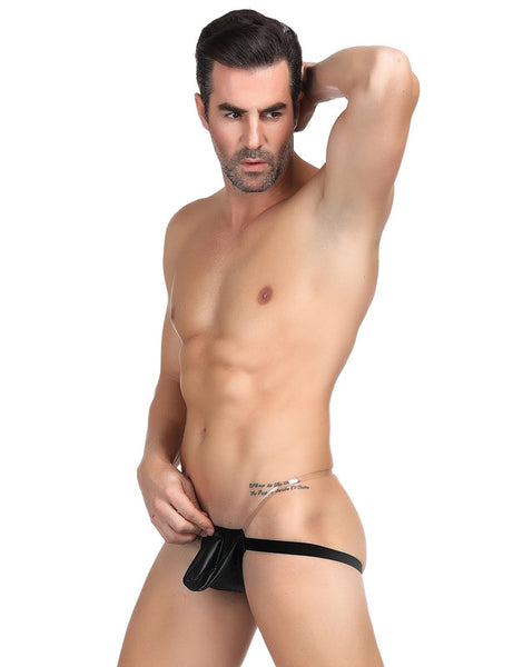 Mens Synthetic Leather Sexy Panties