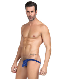 Mens Synthetic Leather Sexy Panties   Blue