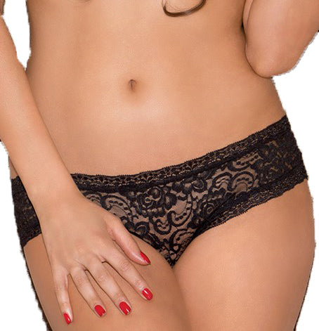 Strappy Back Lace Bikini Panty | Black Color