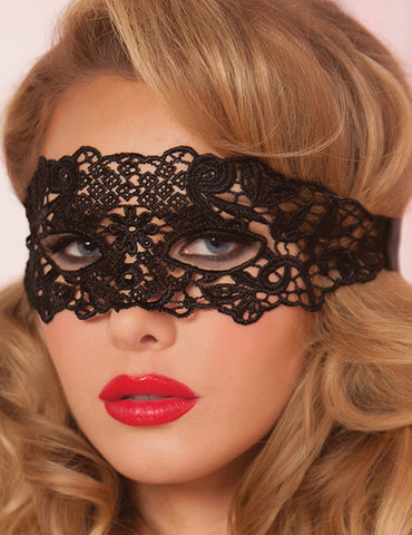 Enchanting Black Lace Eye Mask | Black Color | One Size