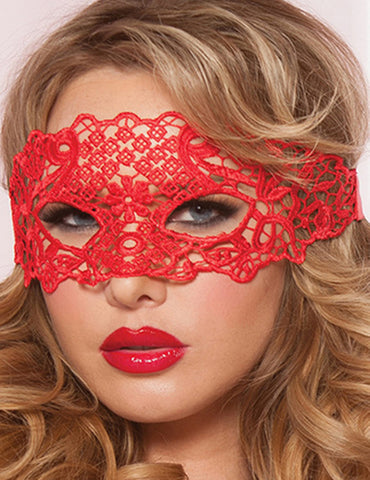 Enchanting Red Lace Eye Mask | Red Color | One Size