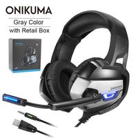 ONIKUMA K5 gaming headphones 3,5mm deep bass headphones with microphone