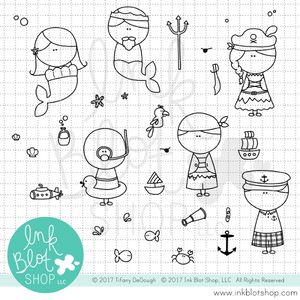 Ahoy :: 4x6 Clear Stamp Set