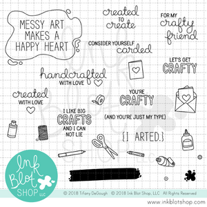 Arts & Crafts Sentiments :: 6x6 Clear Stamp Set