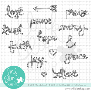 Big Words (Outline) :: 4x6 Clear Stamp Set