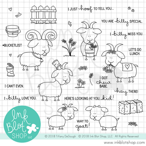 Billy Silly Goats :: 6x8 Clear Stamp Set