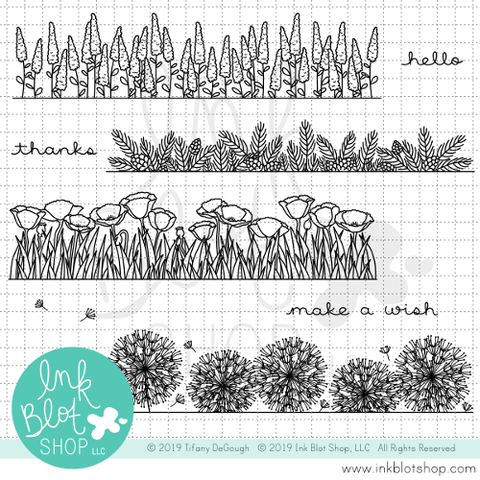 Botanical Borders 2 :: 6x6 Clear Stamp Set