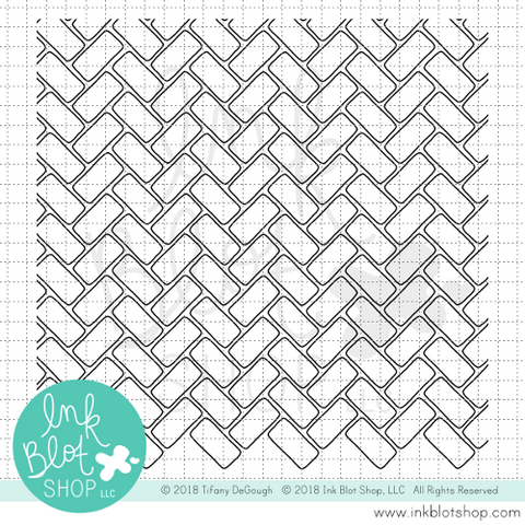Brickwork Background :: 6x6 Clear Stamp