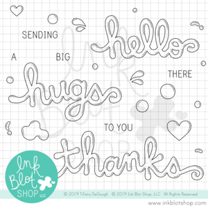 Bubble Words :: 4x6 Clear Stamp Set