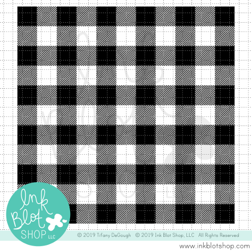 Buffalo Plaid Background :: 6x6 Clear Stamp Set