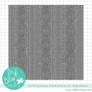 Cable Knit Background :: 6x6 Clear Stamp
