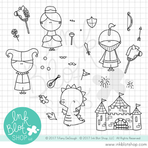 Castle Times :: 4x6 Clear Stamp Set